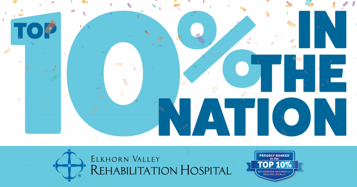 Elkhorn Valley Rehabilitation Hospital was named one of the top rehabilitation hospitals in the US by UDSMR for 2019